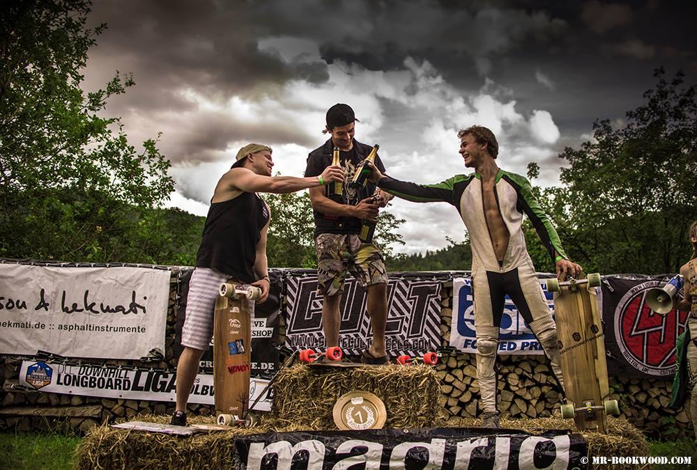 Matze, Sebastian and Jakob on the podium.