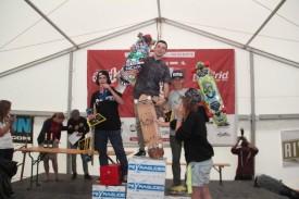 Connor on top of the Juniors podium at Peyragudes